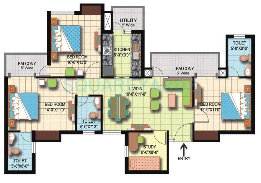 amrapali silicon city apartment 3bhk st 1545sqft 1