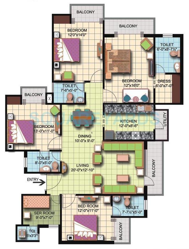 amrapali silicon city apartment 4bhk sq 2350sqft 1