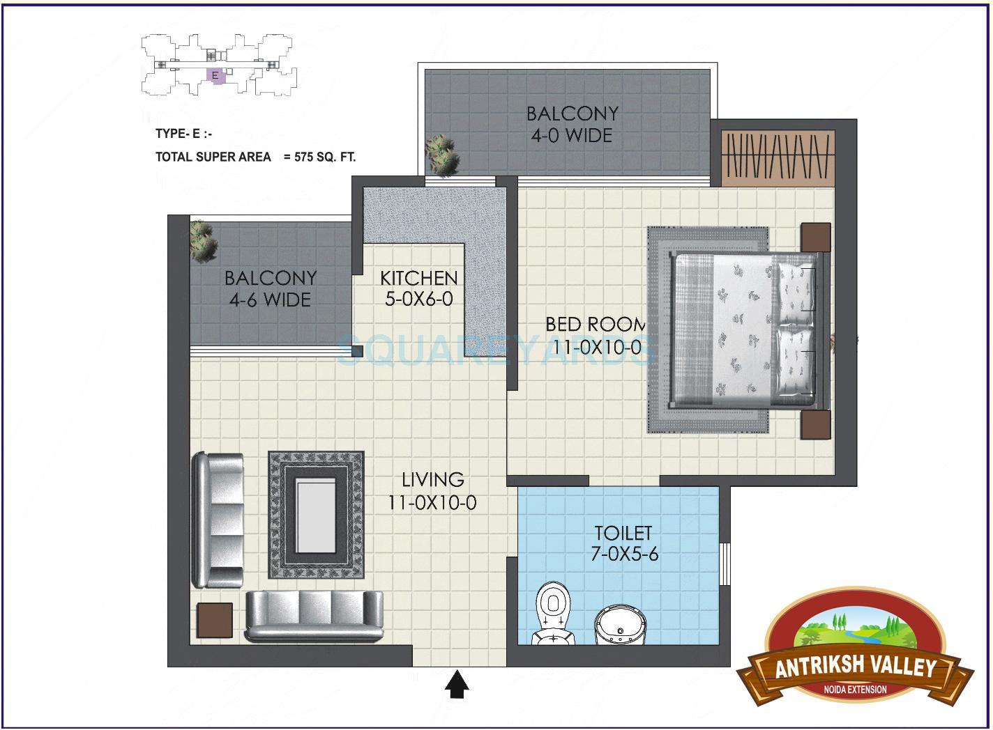 ankriksh valley apartment 1bhk 575sqft 1