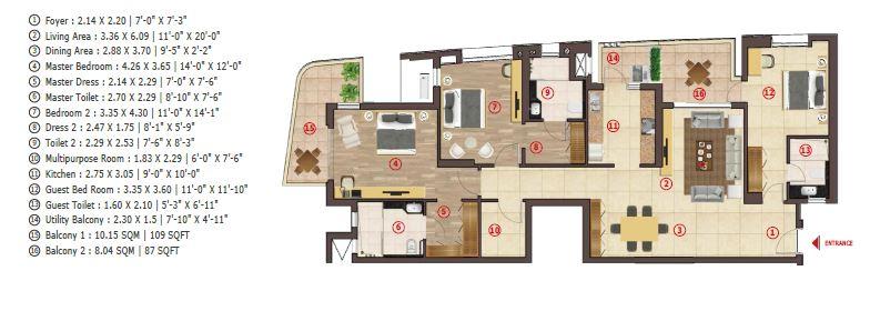antara noida phase 1 apartment 3bhk 2160sqft21