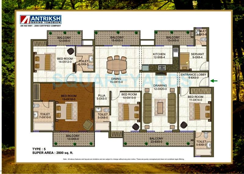 4 Bhk 2800 Sq Ft Apartment For Sale In Antriksh Forest At Rs 5425 Sq Ft Noida