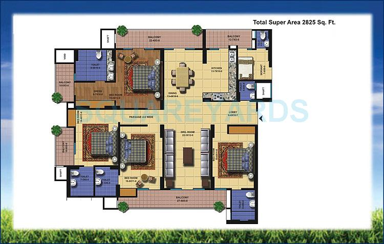 antriksh golf view apartment 4bhk sq 2825sqft 1