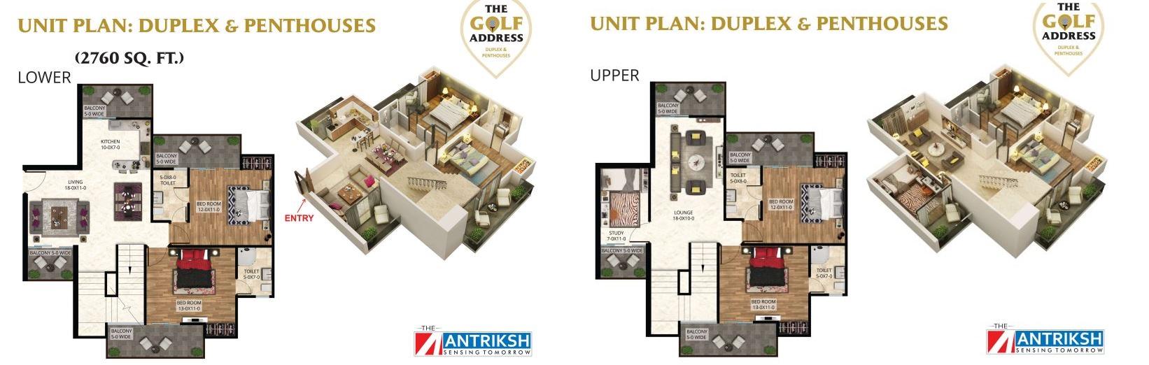 antriksh the golf address penthouse 4bhk st 2760sqft 1