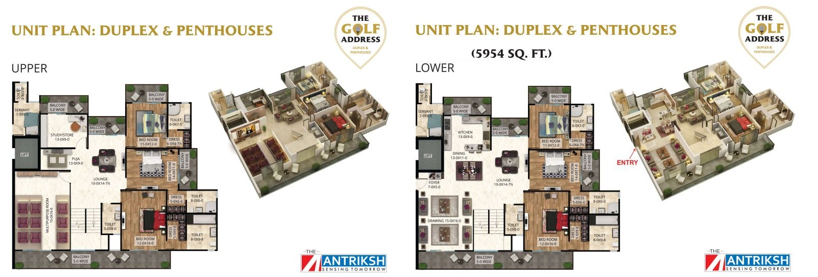 antriksh the golf address penthouse 6bhk sq 5954sqft 1