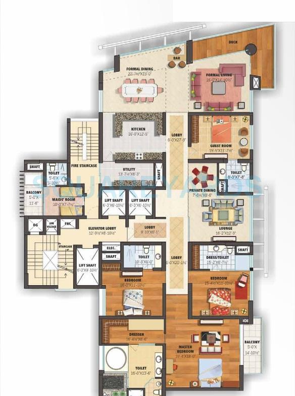 assotech celeste towers apartment 4bhk sq 4750sqft 1