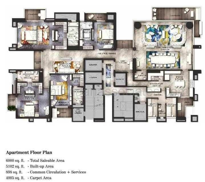 ats knightsbridge apartment 4bhk 6000sqft 20203926143937