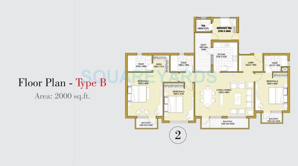 3 Bhk 2000 Sq Ft Apartment For Sale In Ats One Hamlet At Rs 7260 Sq Ft Noida