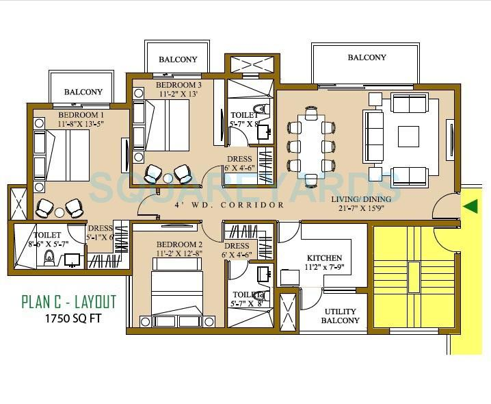 3 Bhk 1750 Sq Ft Apartment For Sale In Ats Pristine At Rs 5921 Sq Ft Noida