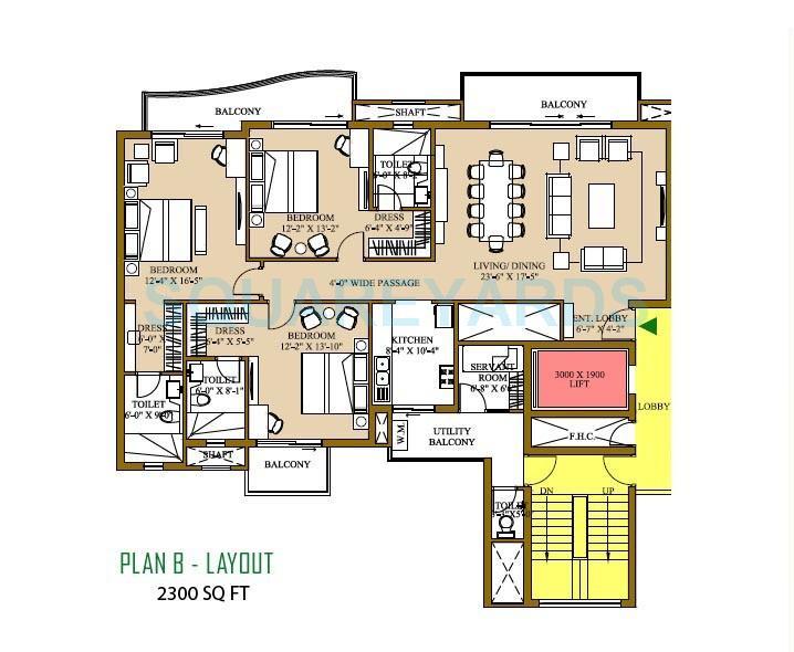 ats pristine apartment 3bhk sq 2300sqft 1