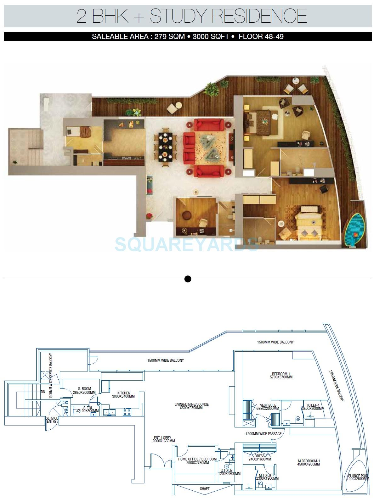 Brys buzz in sector 150 noida project overview unit for Apartment floor plans 3000 sq ft