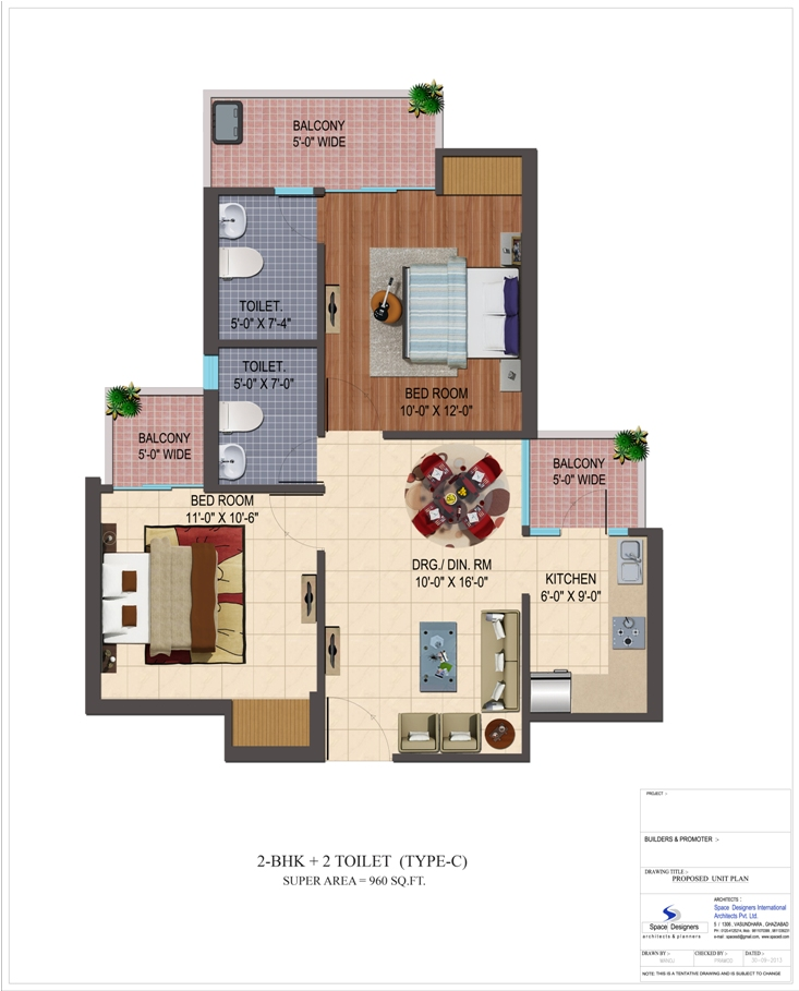 cosmos shivalik homes 2 apartment 2bhk 960sqft 1