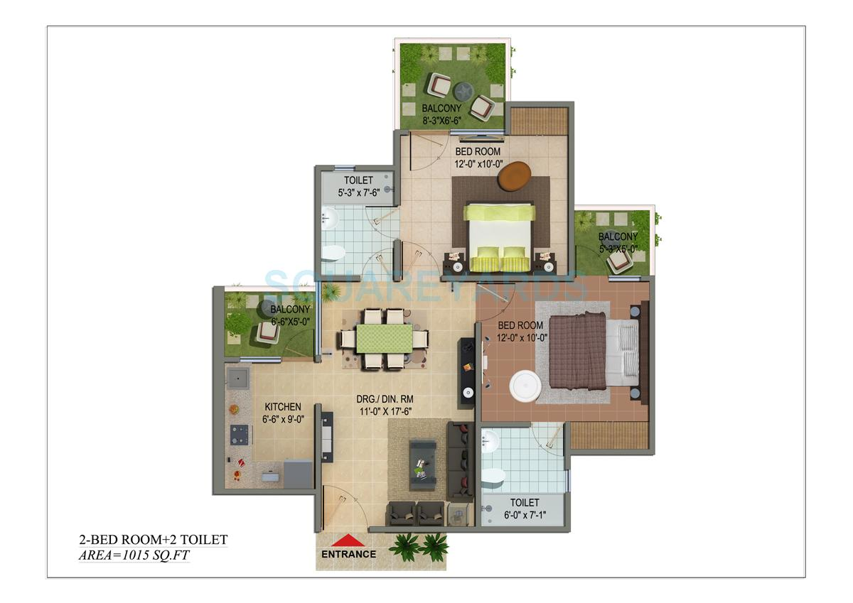 cosmos shivalik homes apartment 2bhk 1015sqft 1