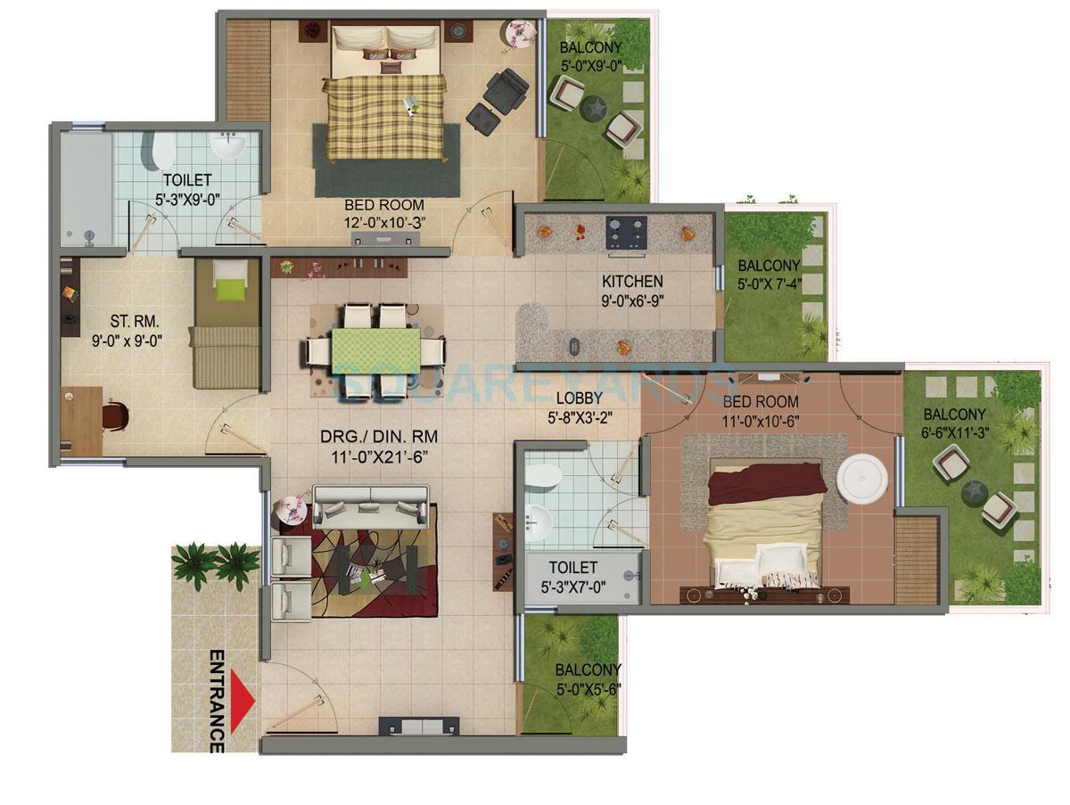 cosmos shivalik homes apartment 2bhk st 1285sqft 1