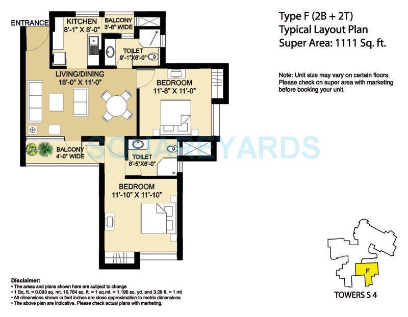 eldeco aamantran apartment 2bhk 1111sqft 1