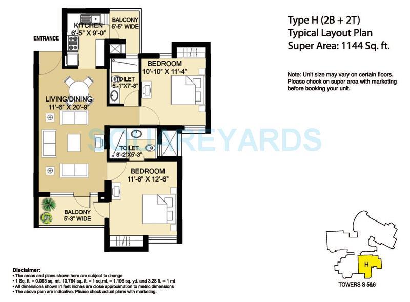 2 BHK 1733 Sq  Ft  Apartment