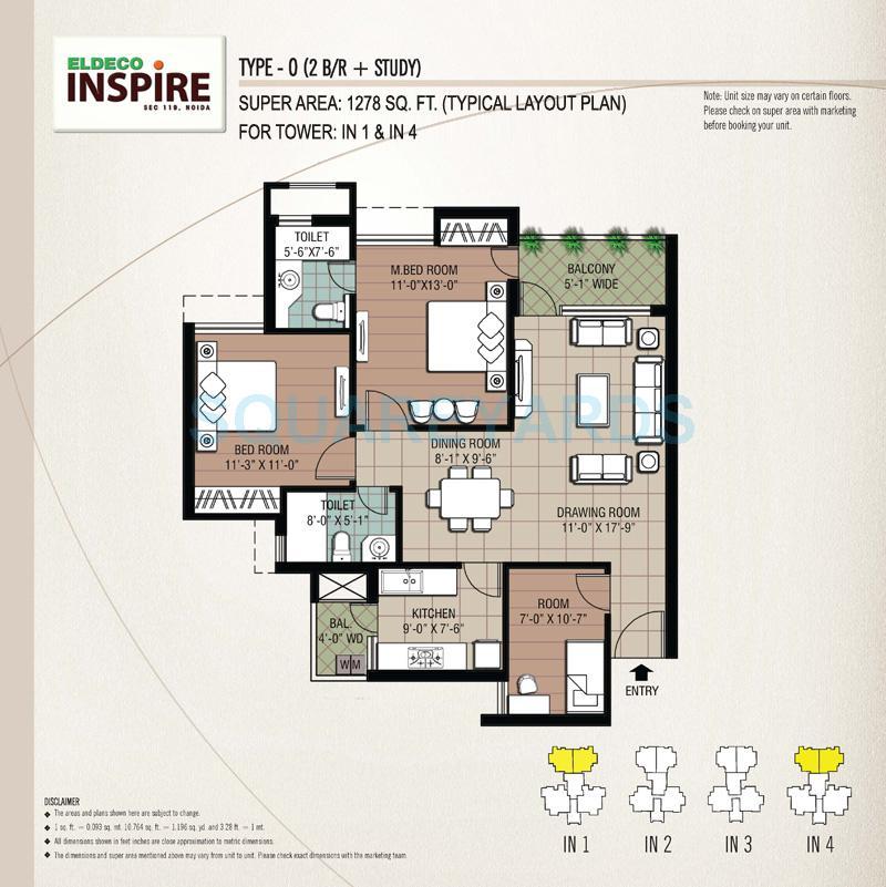 eldeco inspire apartment 2bhk st 1278sqft 1