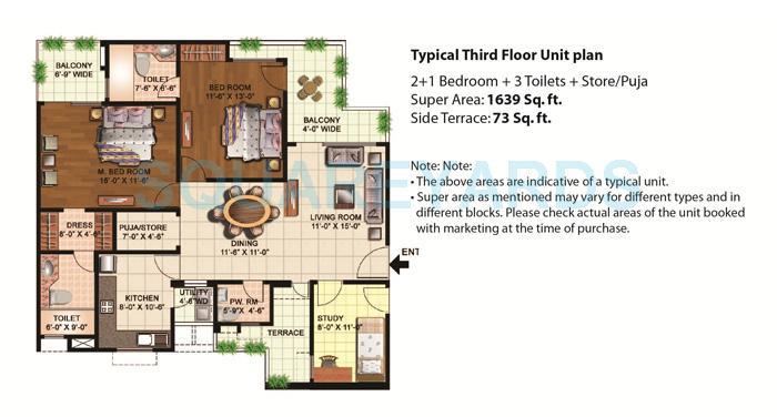 eldeco mystic greens apartment 2bhk st 1639sqft 1