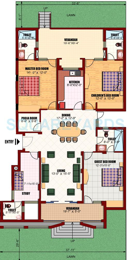 3 Bhk 2250 Sq Ft Apartmentsylan View I For Sale In Eldeco Utopia At Rs 7250 Sq Ft Noida