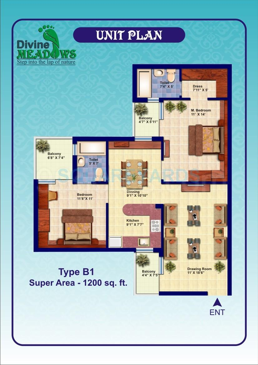elixir divine meadows apartment 2bhk 1200sqft 1