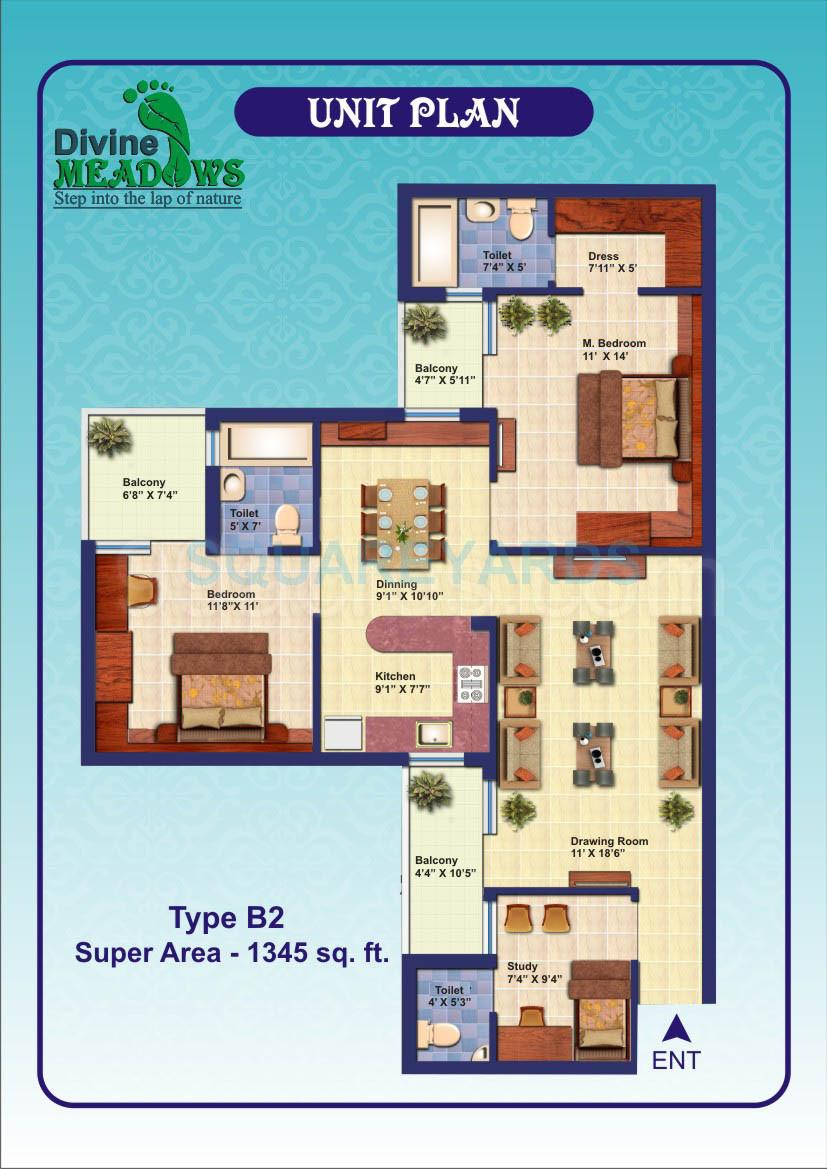 elixir divine meadows apartment 2bhk sq 1345sqft 1