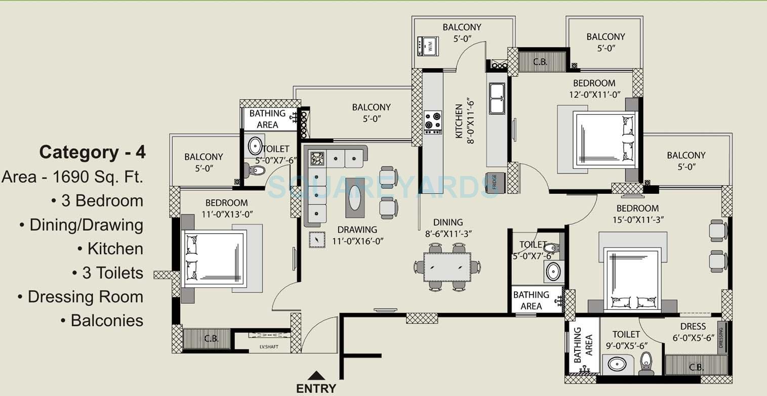exotica fresco apartment 3bhk 1690sqft 1