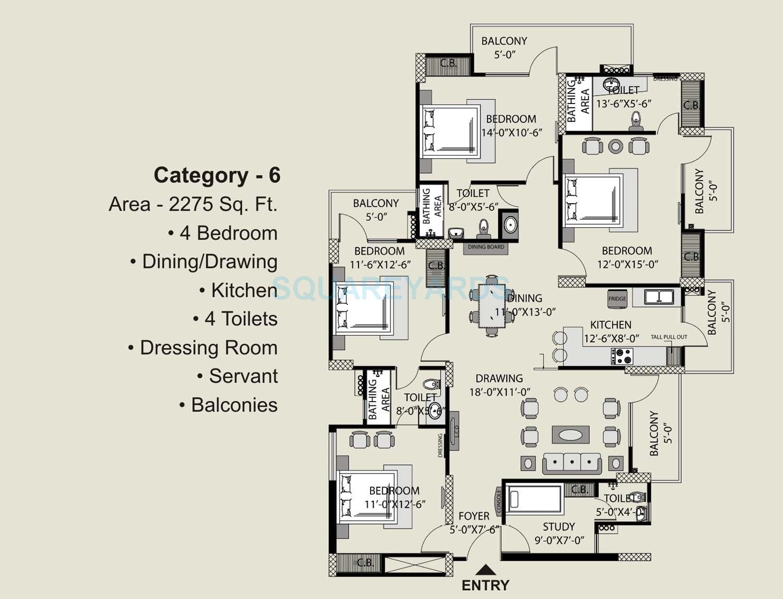 exotica fresco apartment 4bhk st 2275sqft 1