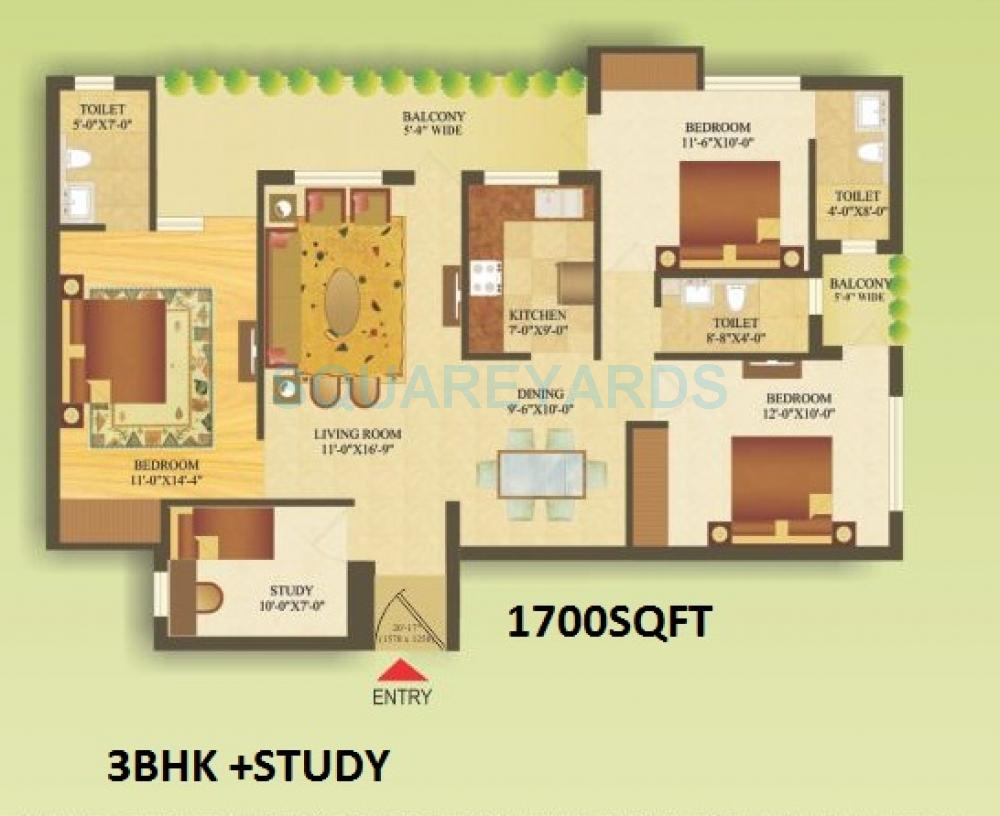 gardenia gateway apartment 3bhk st 1700sqft 1