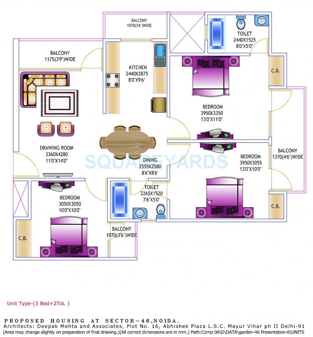 gardenia glory apartment 3bhk 1350sqft 1