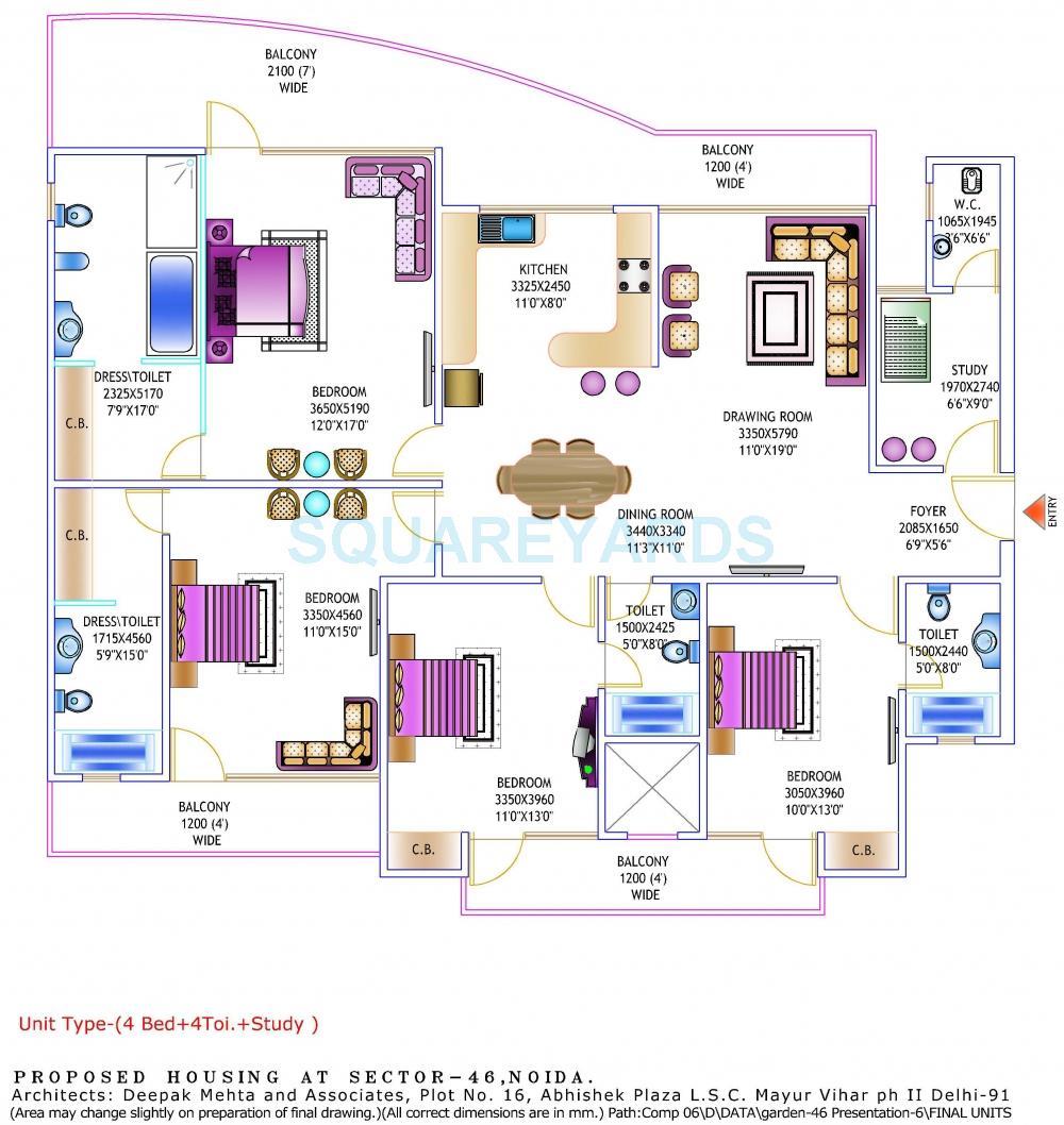 gardenia glory apartment 4bhk sq 2250sqft 1