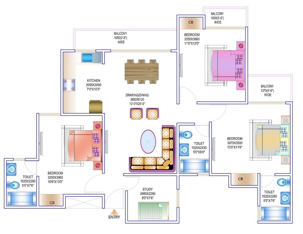 gardenia golf city apartment 3bhk st 1750sqft 61