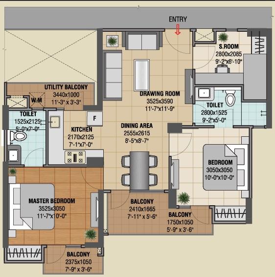 gaur castlevania apartment 2bhk 1060sqft01
