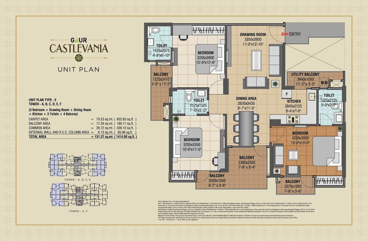 gaur castlevania apartment 3bhk 1414sqft41