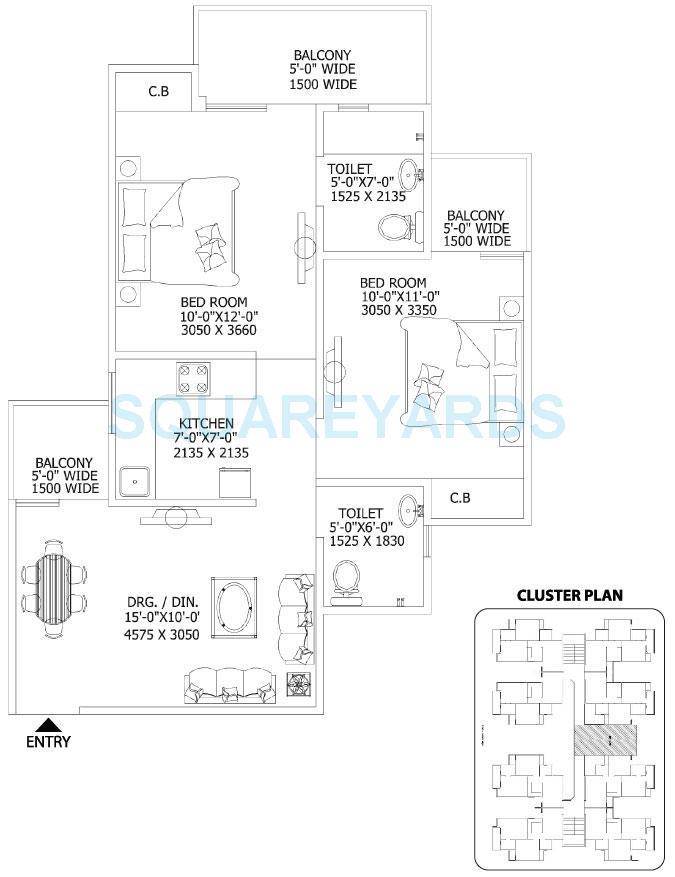 gaur city 2 11th avenue apartment 2bhk 890sqft 1