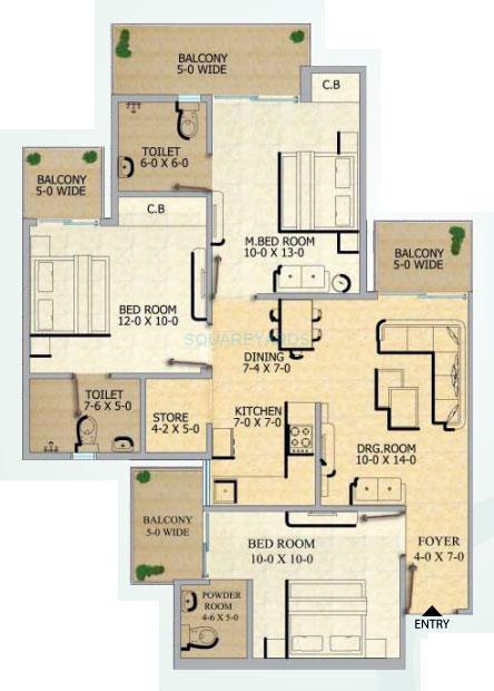 gaur city 2 12th avenue apartment 3bhk 1320sqft 1
