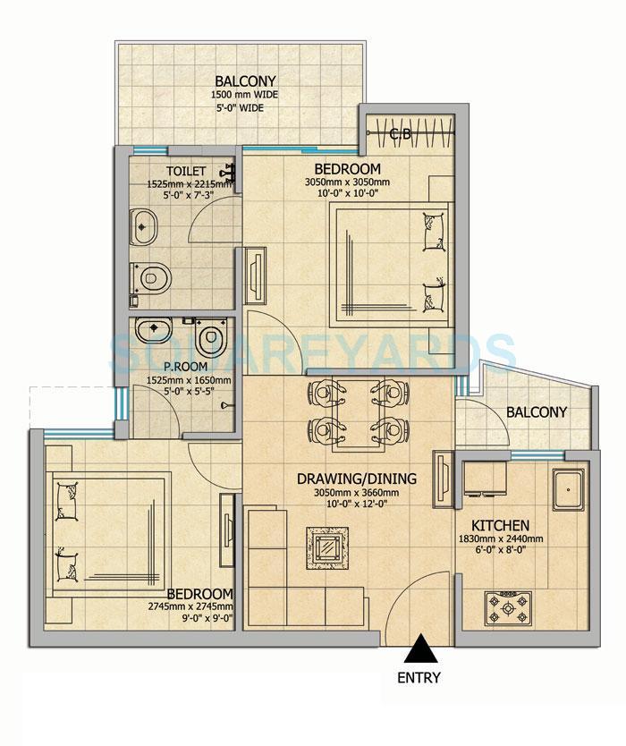 gaur city 2 14th avenue apartment 2bhk 760sqft 1