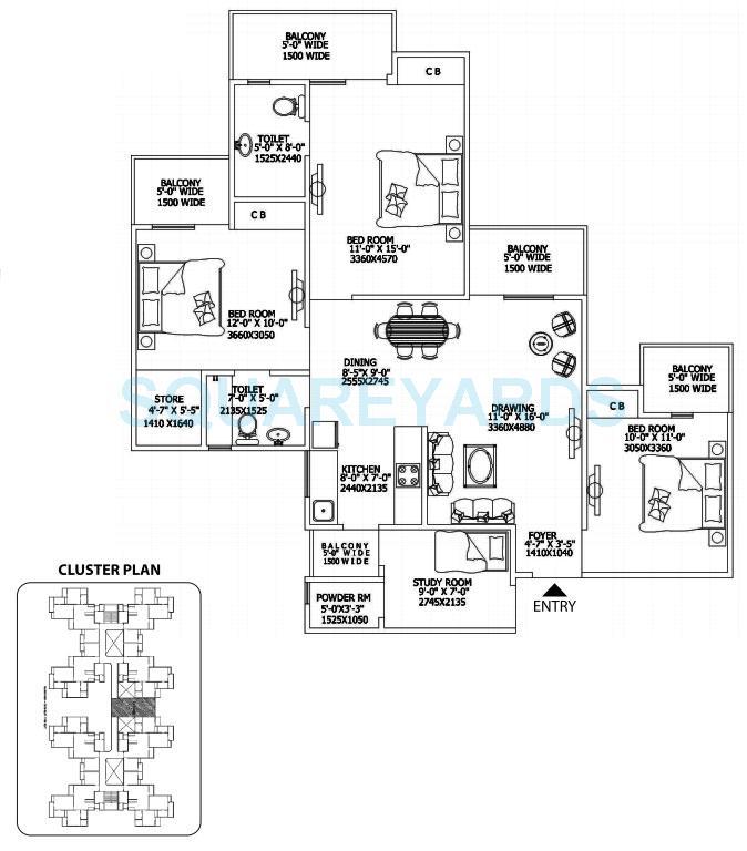 gaur city 2 16th avenue apartment 3bhk 1500sqft 1