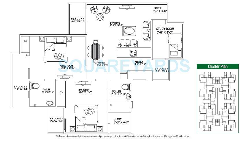 gaur city 4th avenue apartment 2bhk 1100sqft 1