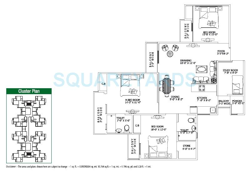 gaur city 4th avenue apartment 3bhk 1400sqft 1
