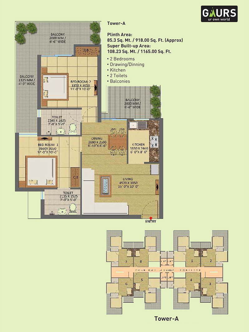 gaur city 7th avenue apartment 2bhk 1165sqft 1