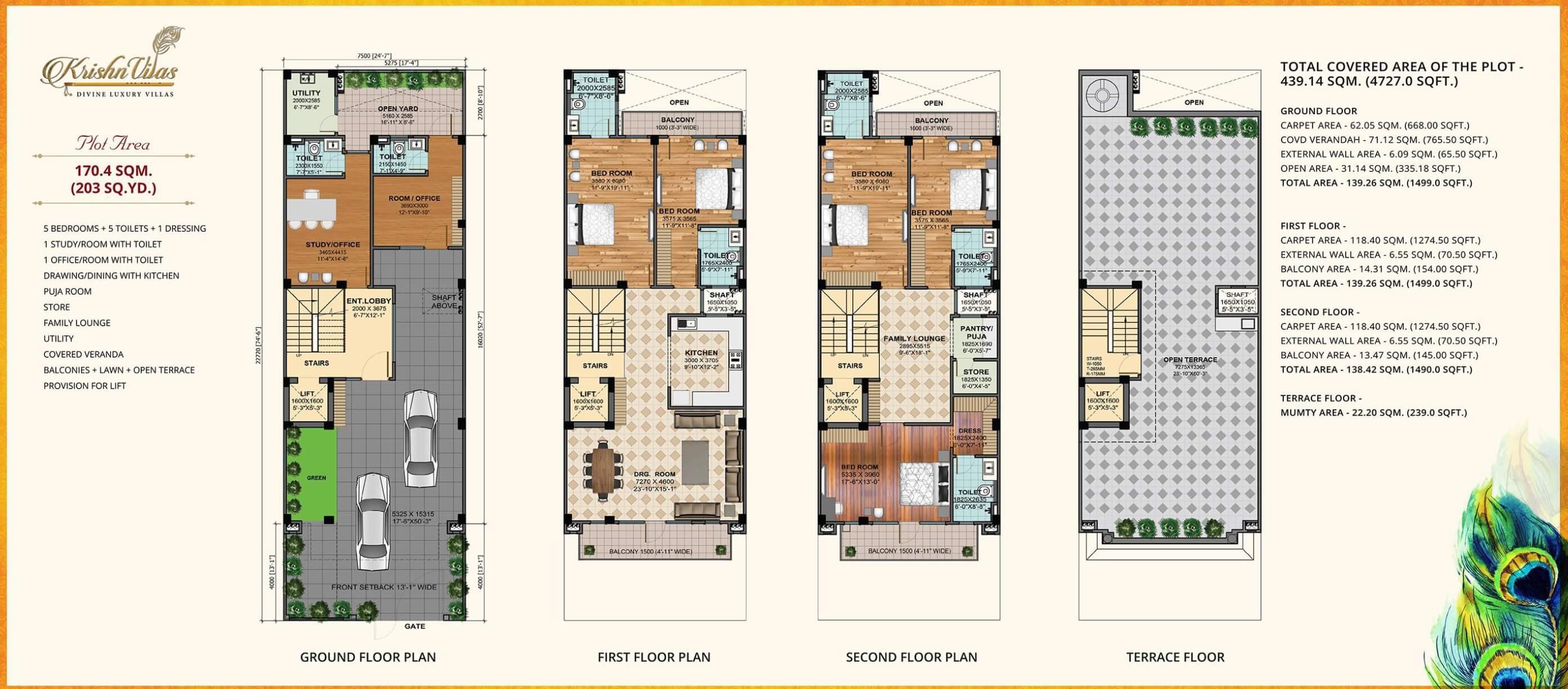gaur krishnvilas villa 5bhk st sq terrace 4727sqft 1