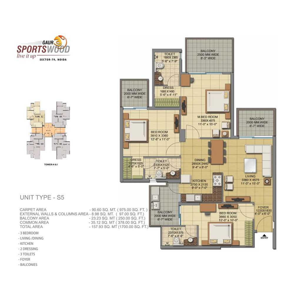 gaur sportswood apartment 3bhk 1700sqft41