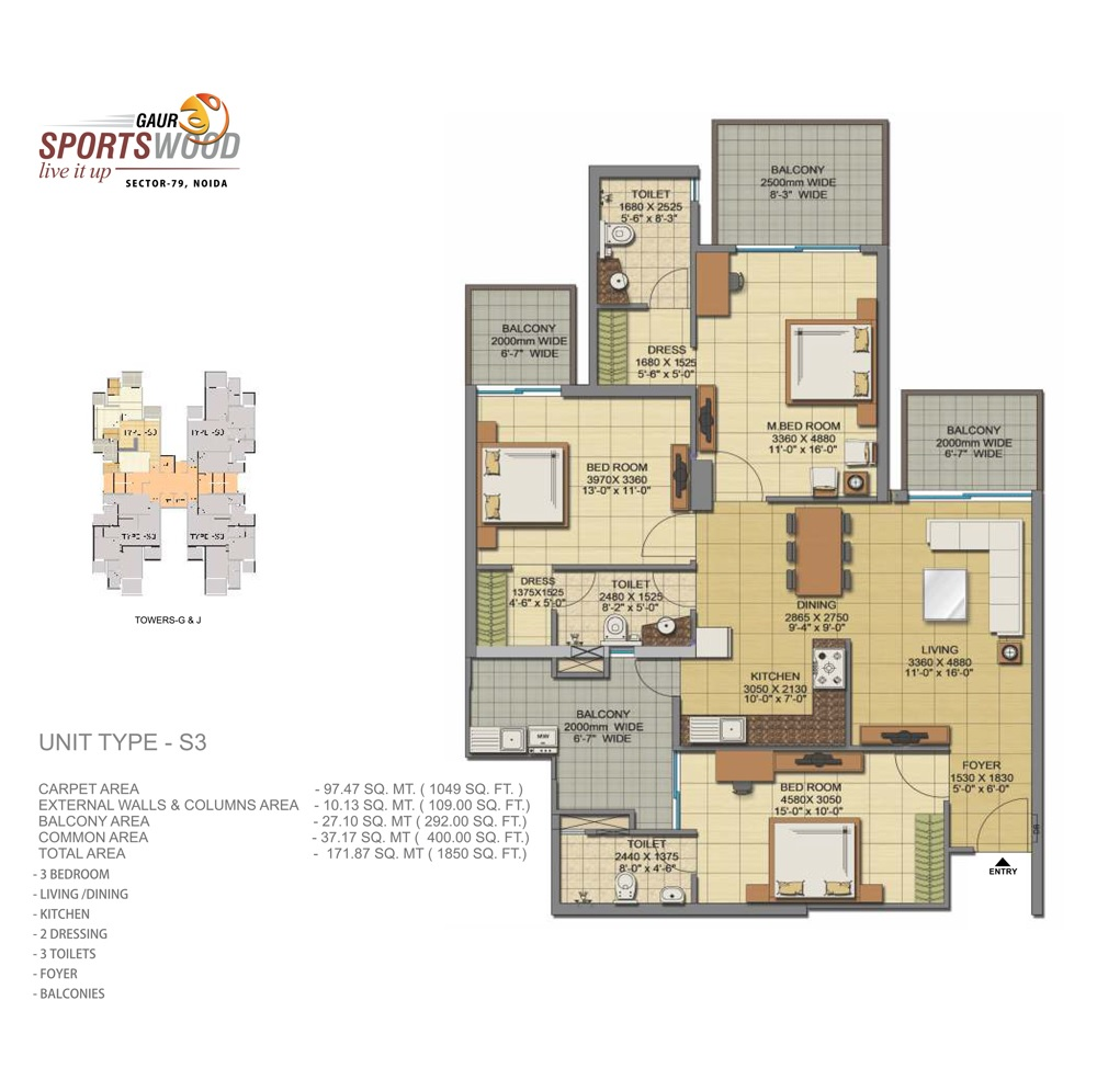gaur sportswood apartment 3bhk 1850sqft41