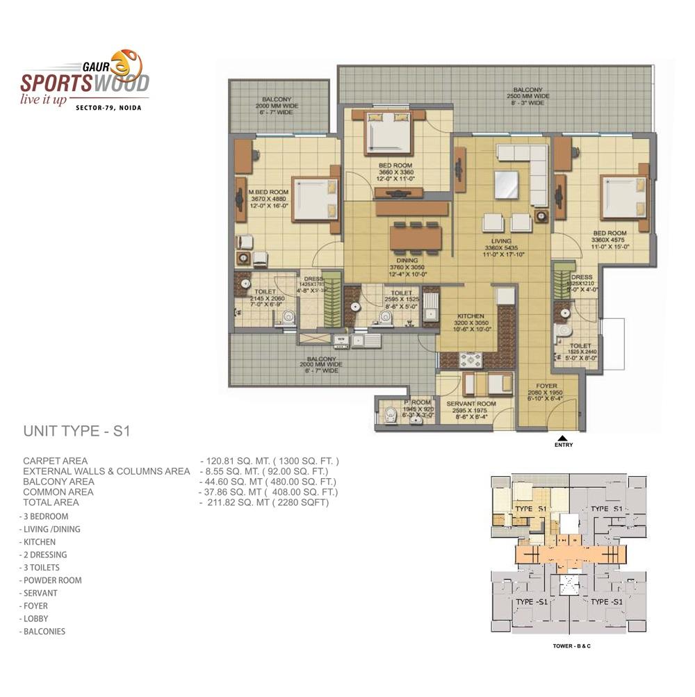 gaur sportswood apartment 3bhk 2280sqft41