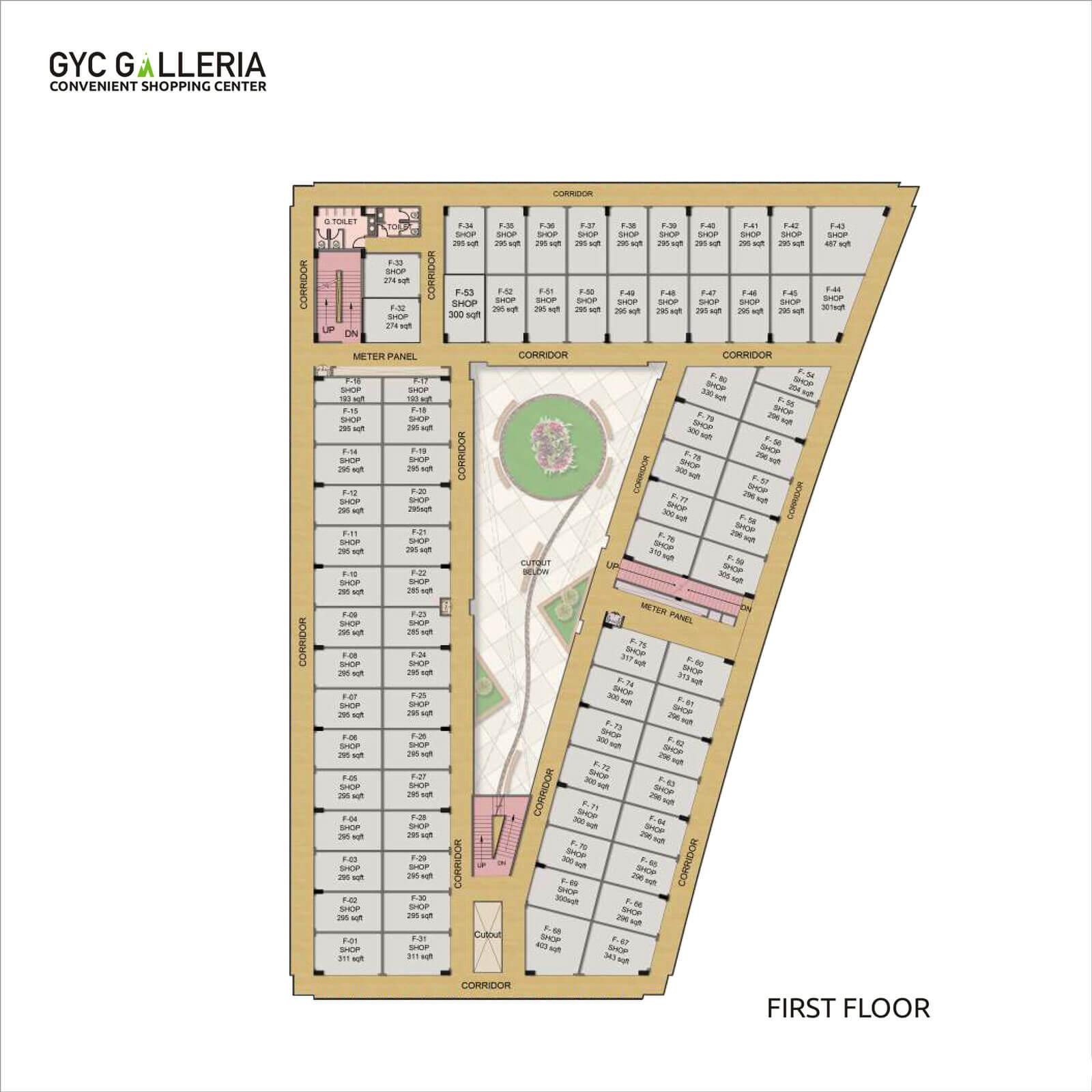 gaur yamuna city galleria retail shop 295sqft 1
