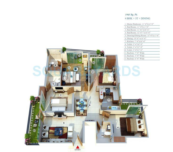 gayatri life apartment 4bhk 1945sqft 1