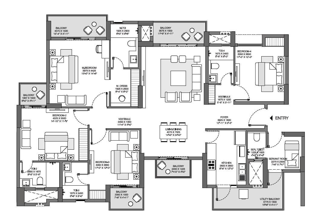 godrej nurture apartment 4bhk sq 1618sqft 1