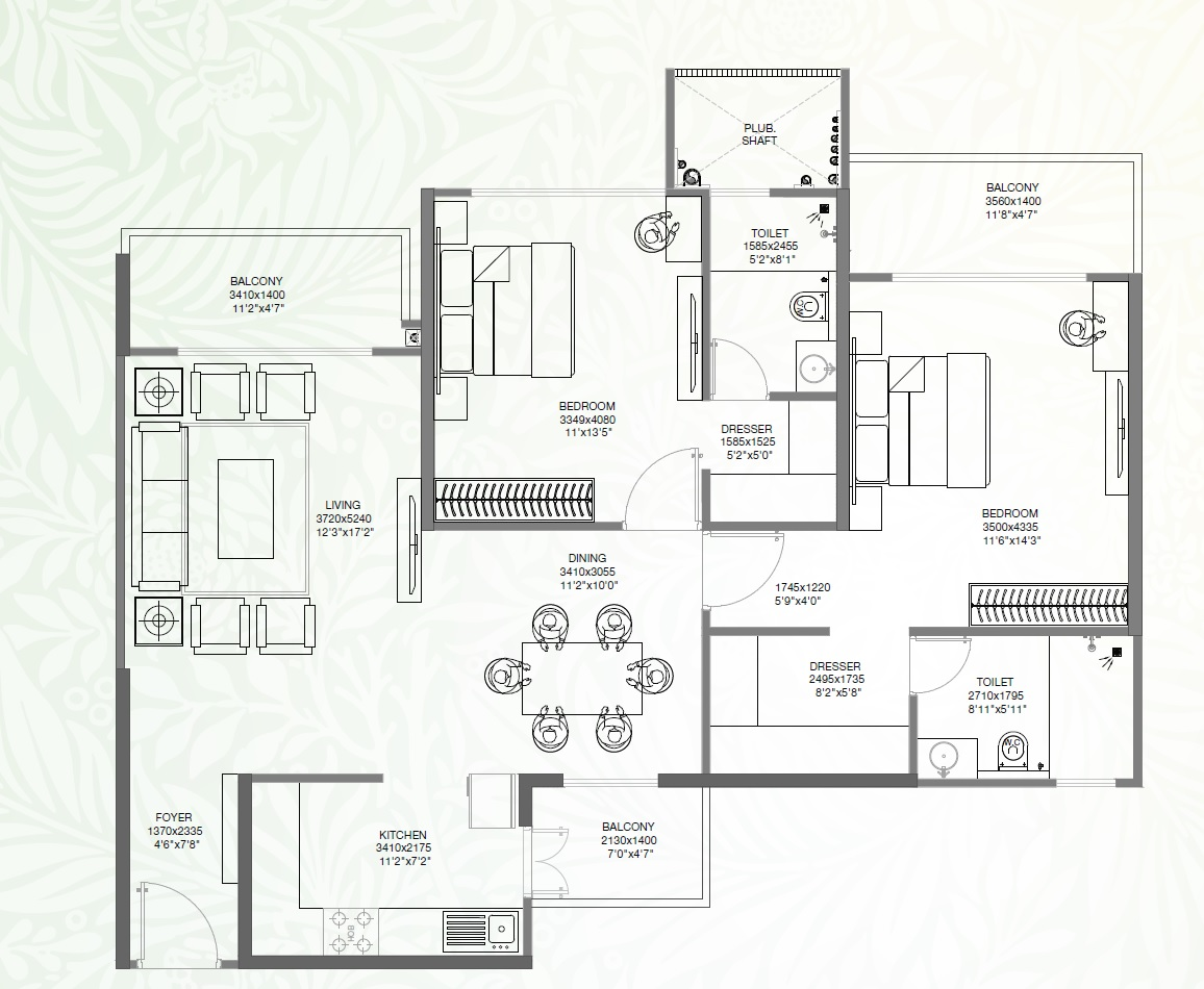 godrej palm retreat apartment 2bhk 1600sqft 51