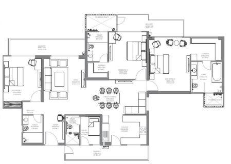 godrej palm retreat apartment 3bhk 2450sqft 51