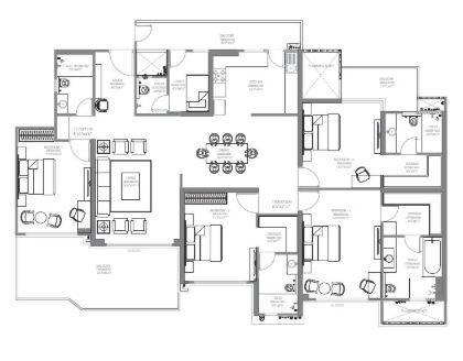 godrej palm retreat apartment 4bhk 3300sqft 51