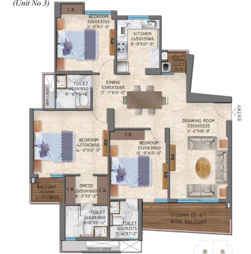 great value anandam apartment 3bhk 1078sqft 1